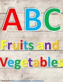 ABC Fruits and Vegetables Book