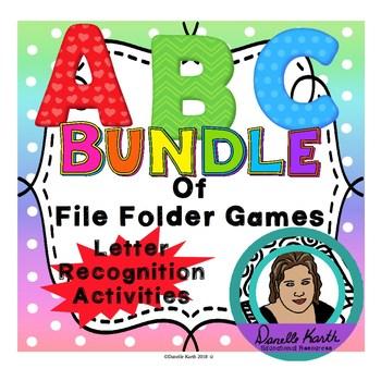 ABC Fun Files - Bundle of Letter Recognition File Folder Games!