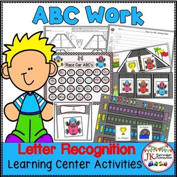 Letter Recognition! Race Car ABCs Literacy Center Activities