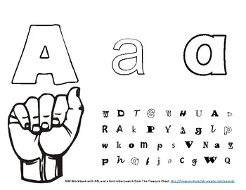ABC Fun Tracing and ASL Workbook