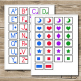 ABC Game Printable - Also helps with colors and shapes