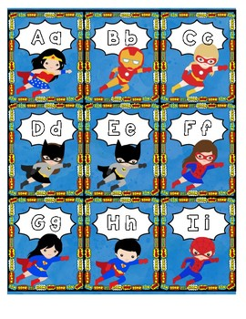 ABC Game-Superheros