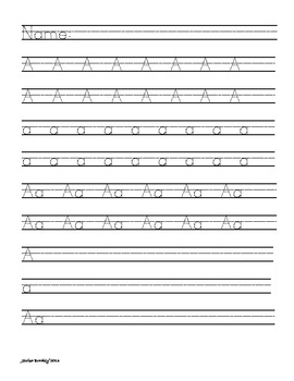 ABC Handwriting Alphabet - FREE Sample