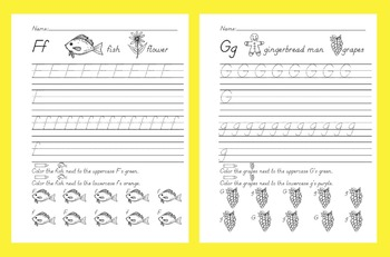 ABC Handwriting Book/Morning Worksheets Set 1 D'Nealian & Common Core Standards