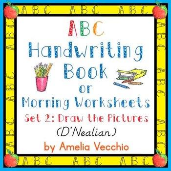 ABC Handwriting Book/Morning Worksheets Set 2 D'Nealian &