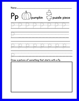 ABC Handwriting Book/Morning Worksheets Set 2 Print with Common Core Standards