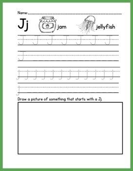 ABC Handwriting Book/Morning Worksheets Set 2 {Print}