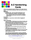 ABC Handwriting Cards - New South Wales Fonts