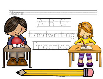 abc handwriting practice by helpful hands teachers pay teachers. Black Bedroom Furniture Sets. Home Design Ideas