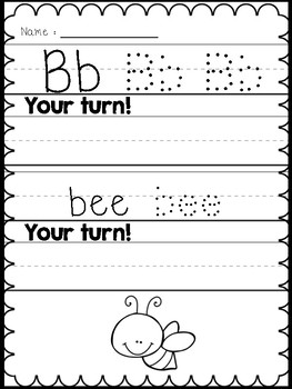 ABC Handwriting Practice Pages