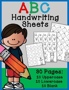 ABC Handwriting Practice Sheets