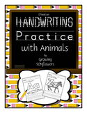 ABC Handwriting Practice with Animals Through the Alphabet D'Nealian 2 sets