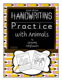 ABC Handwriting Practice with Animals Through the Alphabet