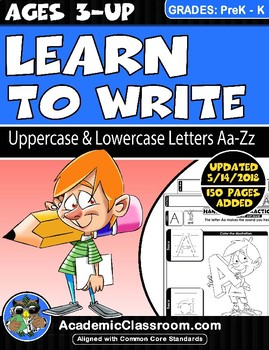 Learn to Write Uppercase & Lowercase Alphabets {NO PREP Practice Worksheets}