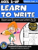 Handwriting Practice Worksheets Learn to Write Letters Aa-Zz