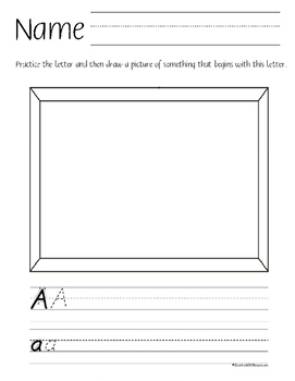 ABC Handwriting and Drawing Practice D'Nealian