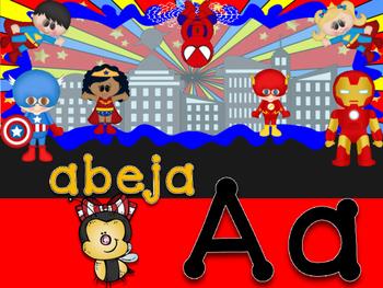 ABC Heroes espanol manuscrito