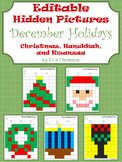 Editable Hidden Pictures ~ December Holidays {Christmas, H