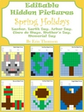 Editable Hidden Pictures ~ Spring Holidays {April and May}