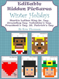 Editable Hidden Pictures ~ Winter Holidays {January, February, March}