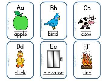 ABC Homework Folder Charts & Flashcards