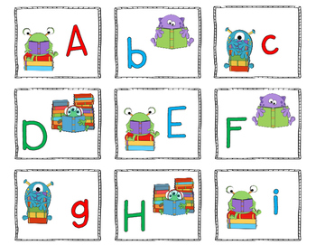 ABC Hunt matching uppercase and lowercase letter partners