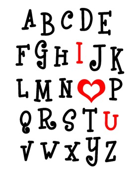 "ABC I ""Heart"" You Art Print"