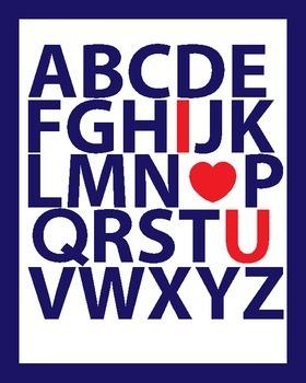 ABC I Love You Wall Print