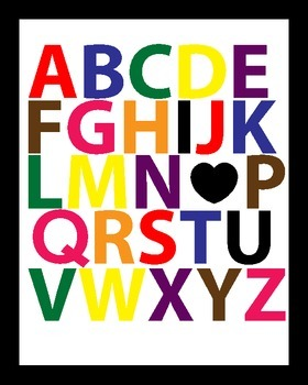 ABC I Love You Wall Print
