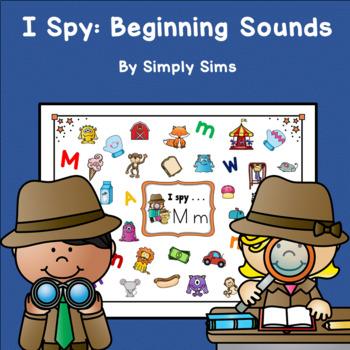 ABC I Spy Beginning Sounds Work Mats Centers