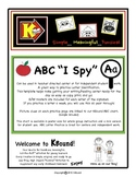 "ABC ""I Spy"".  How many letters do you SPY?  Great Center Activity!"