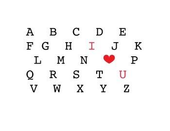 "ABC ""I love you"" Print"