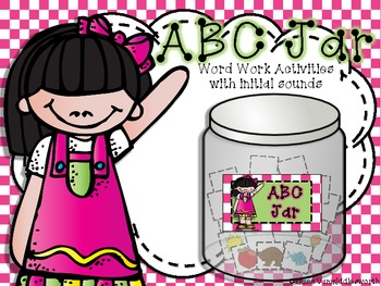ABC Initial Sounds Jar for Word Work Centers and Workstations