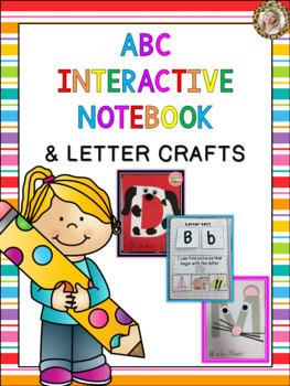ABC Interactive Alphabet Notebook A to Z and Letter Crafts