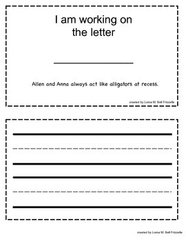 ABC Interactive Notebook - Letter A