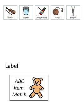 ABC Item Match Workbox or File Folder