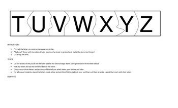 ABC Jigsaw Puzzle UPPERCASE