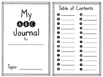 ABC Journal Booklet