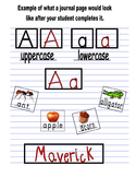 ABC Journal - Letter Aa Page