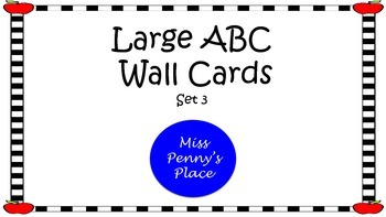 ABC  Large Wall Cards - Apple Set 3