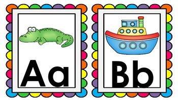 ABC  Large Wall Cards - Bright Set 1