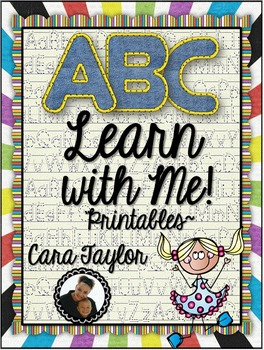 ABC Learn with Me Alphabet Printables for Young Learners (and Write the Room!)