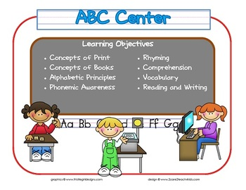 ABC Learning Center Sign~ With Objectives