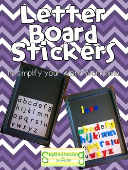 ABC Letter Board Sticker Sheets {Simplified Teaching}