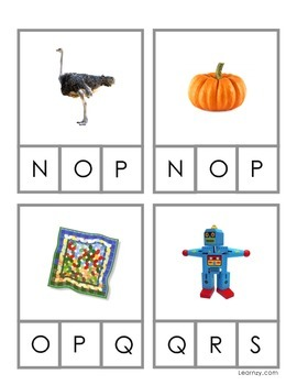ABC Letter Cards - Preschool and Kindergarten Alphabet Cards