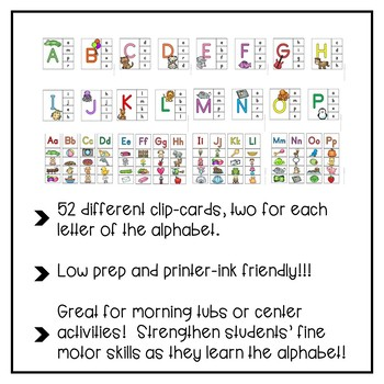 ABC Letter Clip-Cards