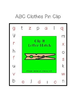 ABC Letter Clip It