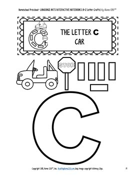 Letter Craft Templates A, B, C - NO PREP Color and BW