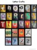 ABC Letter Crafts - Uppercase & Lowercase A to Z