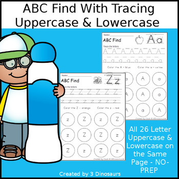 ABC Letter Find With Tracing: Uppercase & Lowercase